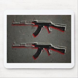 カラシニコフ自動小銃の突撃銃のポップアート マウスパッド