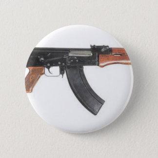カラシニコフ自動小銃の突撃銃 5.7CM 丸型バッジ
