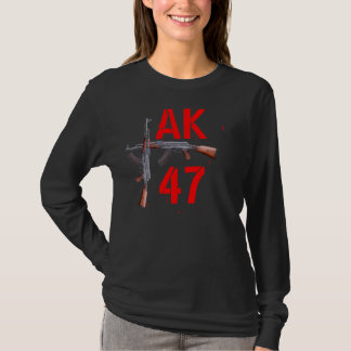 カラシニコフ自動小銃の長袖のワイシャツ Tシャツ