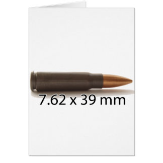 カラシニコフ自動小銃円形7.62 x 39mmの弾薬 カード