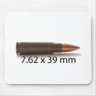 カラシニコフ自動小銃円形7.62 x 39mmの弾薬 マウスパッド