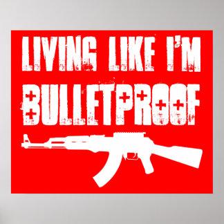 カラシニコフ自動小銃: 私が防弾であるように生存 ポスター