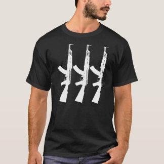 カラシニコフ自動小銃-銃 Tシャツ