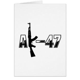 カラシニコフ自動小銃AKMの突撃銃のロゴ カード