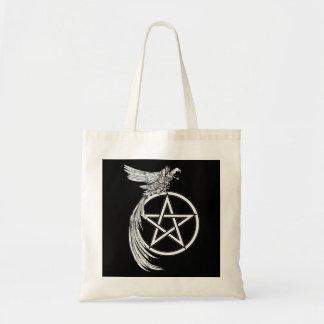 カラスおよび星形五角形のトートバック トートバッグ
