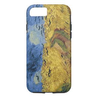 カラスが付いているヴィンテージのゴッホのWheatfield iPhone 8/7ケース