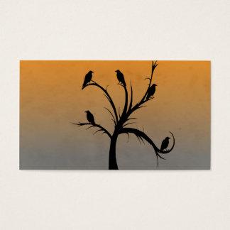 カラスが付いている木 名刺
