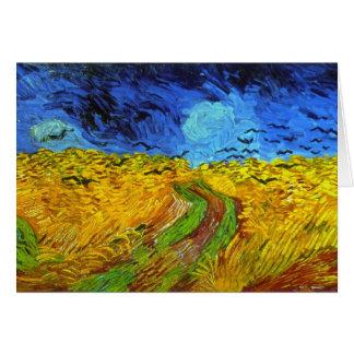 カラスのゴッホのファインアートを用いる小麦畑 カード