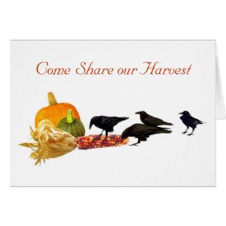 カラスの収穫の招待状 カード