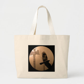 カラスの精神のコレクション ラージトートバッグ