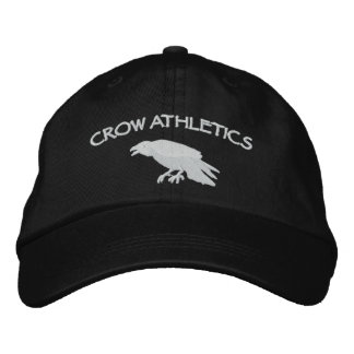 カラスの運動競技の帽子 刺繍入り帽子