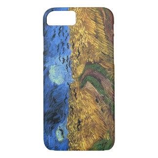 カラスのiPhone 7の場合が付いているゴッホのWheatfield iPhone 8/7ケース