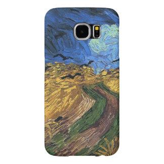 カラスを持つヴィンチェンツォvanゴッホWheatfield Samsung Galaxy S6 ケース