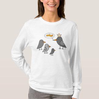カラス王-女性フード付 Tシャツ