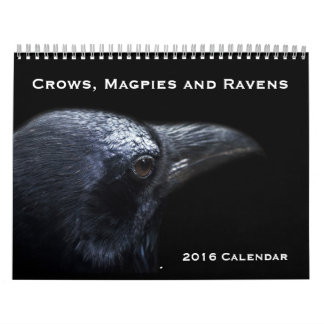 カラス、カササギおよびワタリガラス2016のカレンダー カレンダー