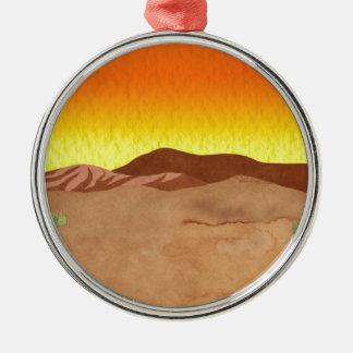 カラハリ砂漠 シルバーカラー丸型オーナメント