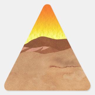カラハリ砂漠 三角形シール