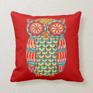 カラフルでかわいいレトロのフクロウの枕 クッション