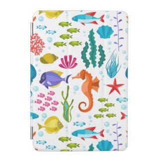 カラフルでかわいい海洋生物及び動物の絵 iPad MINIカバー
