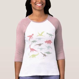 カラフルでかわいいdinosauruses tシャツ