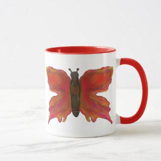 カラフルでかわいらしい蝶マグ マグカップ
