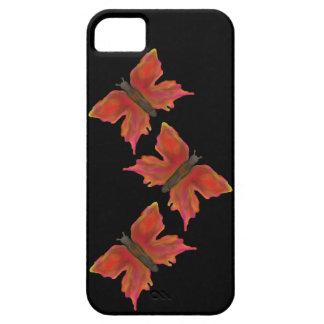 カラフルでかわいらしい蝶 iPhone SE/5/5s ケース