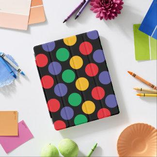 カラフルではっきりしたな多彩の水玉模様パターン iPadスマートカバー