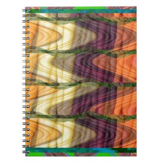 カラフルでオーガニックな農場のにんじん99からの芸術の抽象芸術 ノートブック
