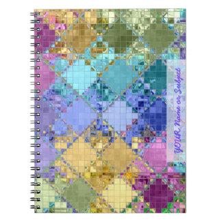 カラフルでカスタマイズ可能なタイルの芸術 ノートブック