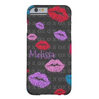 カラフルでキスをするな唇場合のデザイン BARELY THERE iPhone 6 ケース