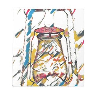 カラフルでコンテンポラリーで芸術的なランタン ノートパッド