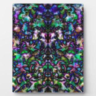 カラフルでサイケデリックな万華鏡のように千変万化するパターンパターン フォトプラーク
