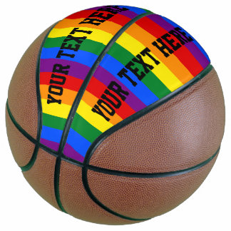 カラフルでストライプのな虹のバスケットボール バスケットボール