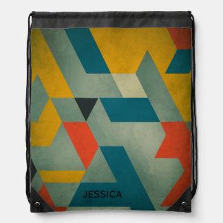 カラフルでモダンで幾何学的なパターン2 ナップサック