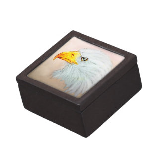 カラフルで図解入りの、写真付きのな鳥のギフト用の箱-ワシ ギフトボックス