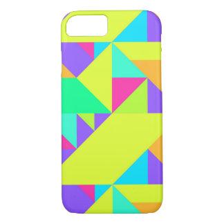 カラフルで幸せで幾何学的なパターン iPhone 8/7ケース