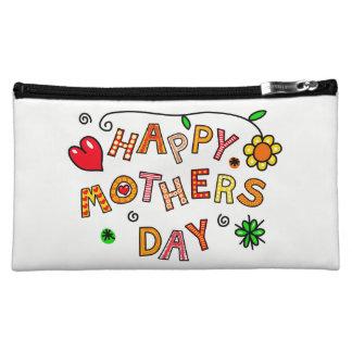 カラフルで幸せな母の日の中型の化粧品のバッグ コスメティックバッグ