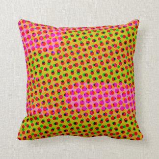 カラフルで幸せな水玉模様の枕 クッション