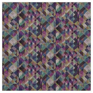 カラフルで幾何学的なパターン抽象芸術 ファブリック