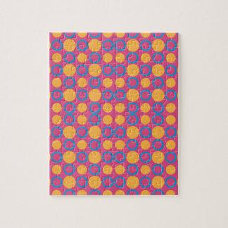 カラフルで幾何学的なポルカのプリント ジグソーパズル