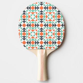 カラフルで幾何学的なモザイク模様 卓球ラケット