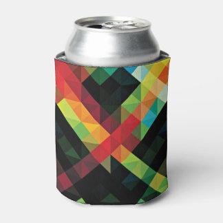 カラフルで幾何学的なモザイク模様 缶クーラー