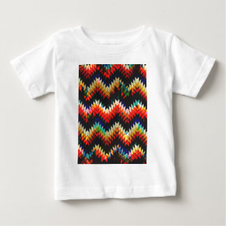 カラフルで幾何学的な織り方 ベビーTシャツ