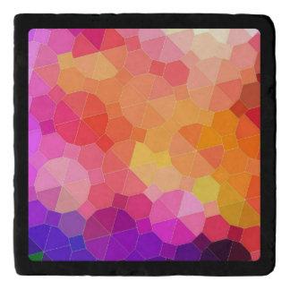カラフルで幾何学的な虹プリズム トリベット