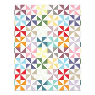 カラフルで幾何学的な風車のスクラップブックの紙 レターヘッド