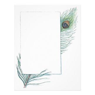 カラフルで感動的なヴィンテージの孔雀の羽 レターヘッド