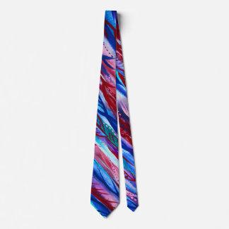 カラフルで抽象的な葉の水彩画のネクタイ ネクタイ