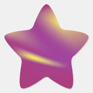 カラフルで明るい流星のステッカー 星シール