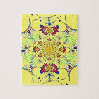 カラフルで明るい花のダマスク織のデザイン ジグソーパズル