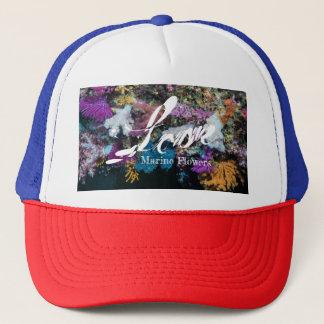 カラフルで柔らかい珊瑚、海洋の花 キャップ